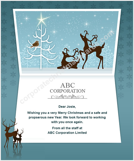 Business holiday ecards business happy holiday e cards holiday elegant deer in forest colourmoves