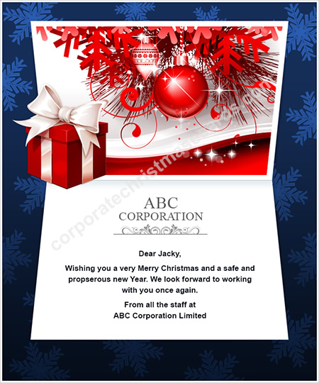 Corporate christmas ecards corporate christmas e cards red bauble twinkle m4hsunfo