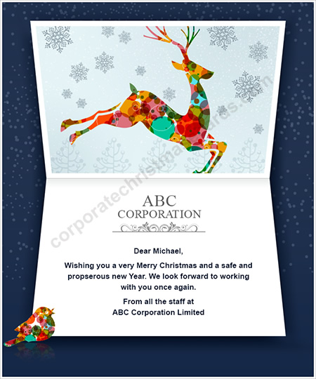 Business ecards business e cards ecards for business colorful bouncing deer colourmoves