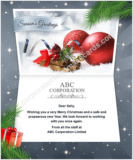 Business holiday ecards business happy holiday e cards holiday silver red seasons greetings m4hsunfo